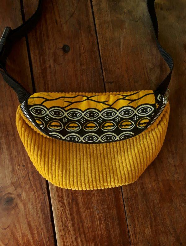 banane jaune wax velours