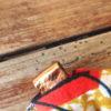 chouchou orange ocre détail